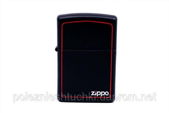 """Зажигалка бензиновая """"Zippo № 218ZB"""" черная"""