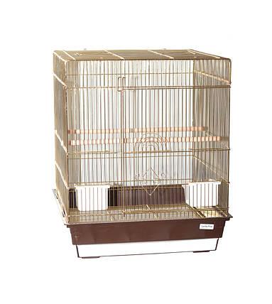 Клетка для птиц Fox Pion, золотая, фото 2