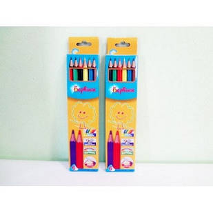 Карандаши цветные пластиковые 6 цв. Барвинок арт. 5-201 (5)