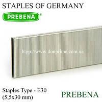 Скобы PREBENA | скоба каркасная для степлера Тип-Е (5,5х30 мм)