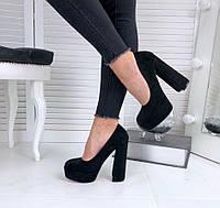 Закрытые женские туфли на каблуке, фото 1
