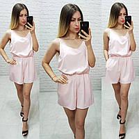 Комбинезон пижама цельный арт. 102/1 пудра / пудровый / светло розовый, фото 1