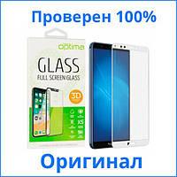Защитное стекло Optima 3D Huawei Y6 2018 белое