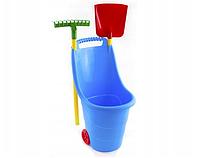 Детские садовые инструменты Mochtoys корзинка с садовыми инструментами