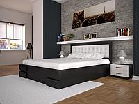 Кровать двуспальная ТИС Кармен с подъемным механизмом бук лак