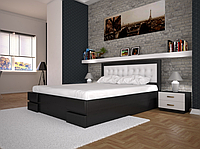 Кровать двуспальная ТИС Кармен с подъемным механизмом сосна лак