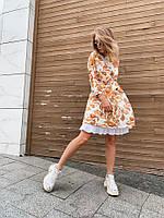 Стильное женское платье с принтом