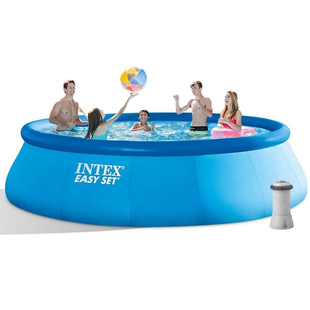Надувной бассейн Intex 28158 с картриджным наносом
