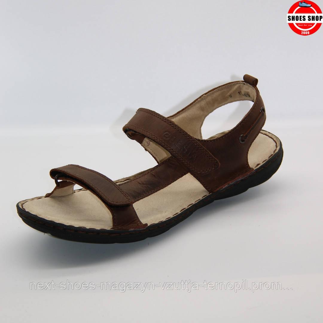 Чоловічі cандалі LESTA (Польща) коричневого кольору. Дуже зручні та легкі. Стиль - Ченнінг Татум