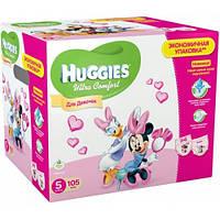Подгузники Huggies Ultra Comfort 5 (12-22кг) для девочек Дисней Бокс 105шт.