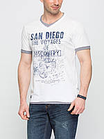 Белая мужская футболка Lc Waikiki / Лс Вайкики с надписью San Diego