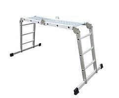Алюминиевая лестница Drabest 4х3 с платформой