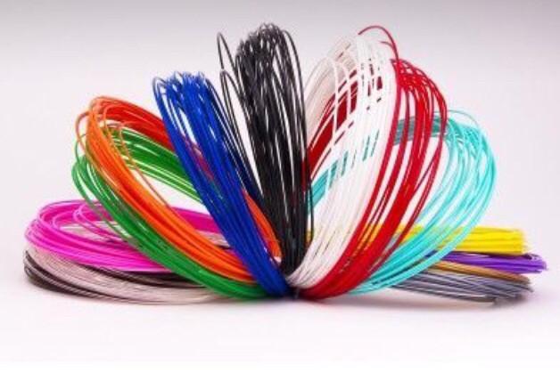 Пластик 14 цветов 200 метров, 20 мотков по 10 м для 3D ручки, ПЛА / PLA нить, стержни