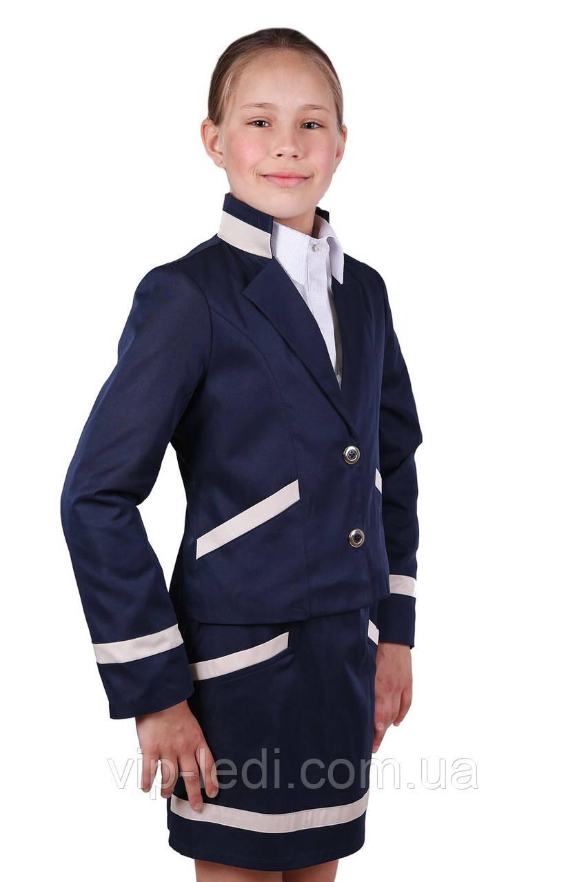 Пиджак и  юбка школьные для девочки Chanel, фото 1