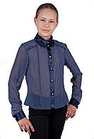 Школьная блузка в горошек для девочки