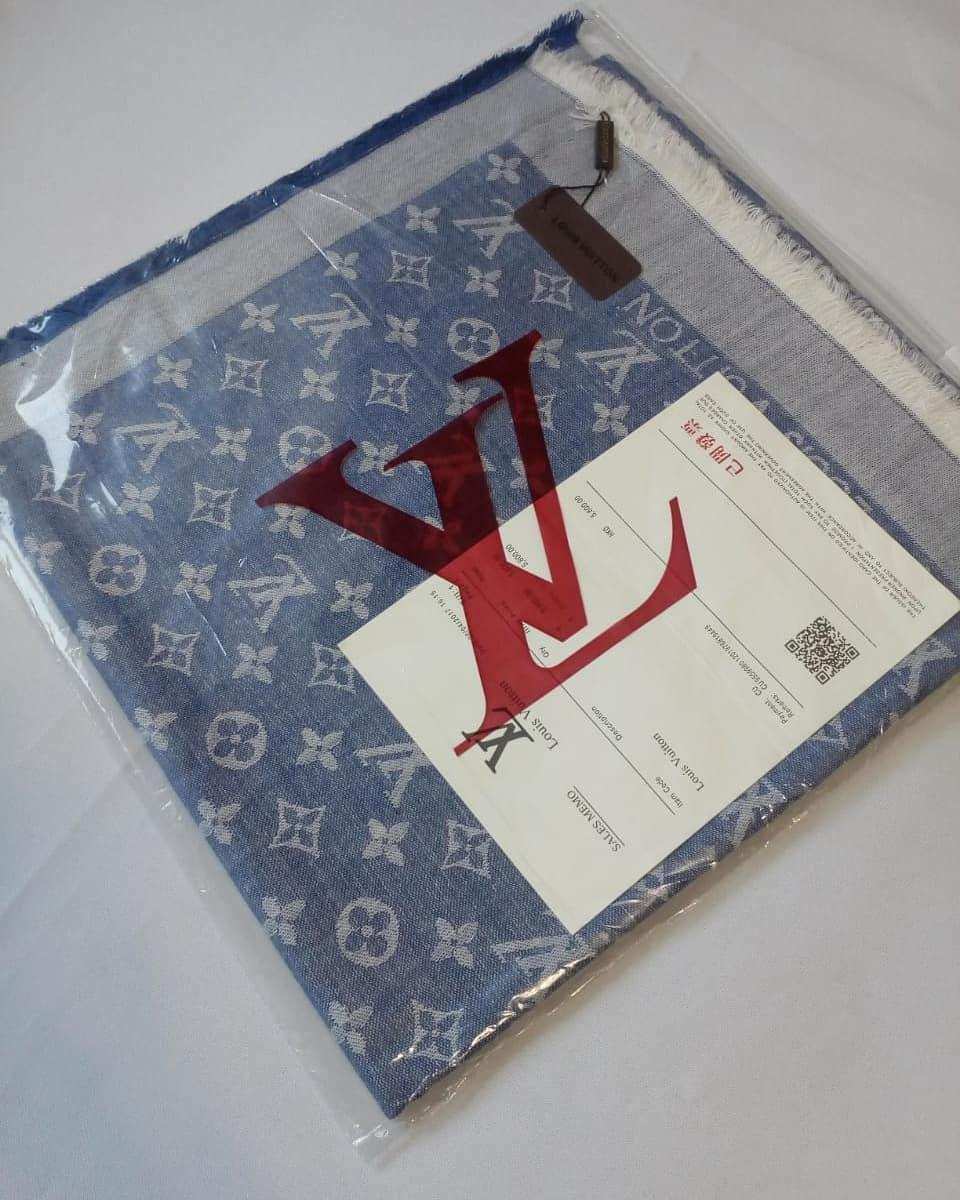 Платок Louis Vuitton джинс комби