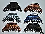 Великі матові Краби для волосся з емблемою (6 шт), фото 2