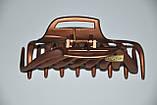 Великі матові Краби для волосся з емблемою (6 шт), фото 3