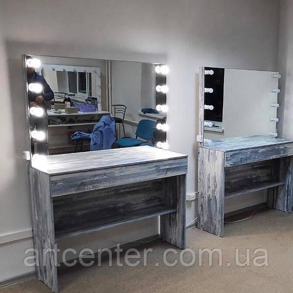 Рабочее место визажиста с зеркалом