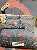 Двуспальный комплект Фламинго  на голубом Бязь Тиротекс