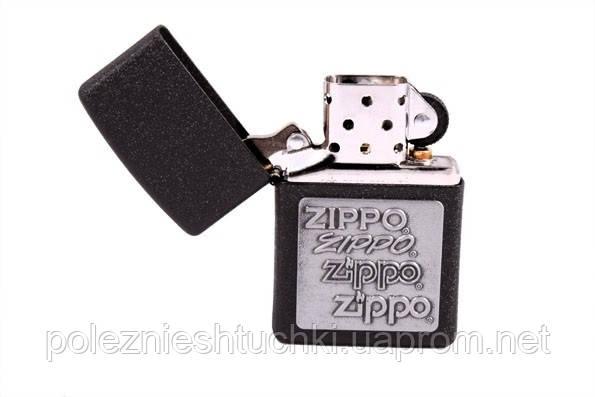 """Зажигалка бензиновая """"Zippo № 363 Столетия"""" черная"""