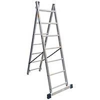 Лестница алюминиевая, 2 секцонный 8 ступей, Drabest 2х8
