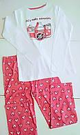 Детская трикотажная пижама Pure Collection для девочки 140 рост