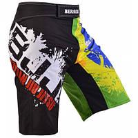 Мужские шорты для смешанных единоборств Berserk Sport черный/салатовый