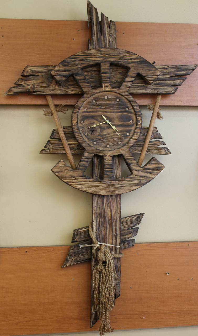Часы из натурального дерева настенные - фото 1
