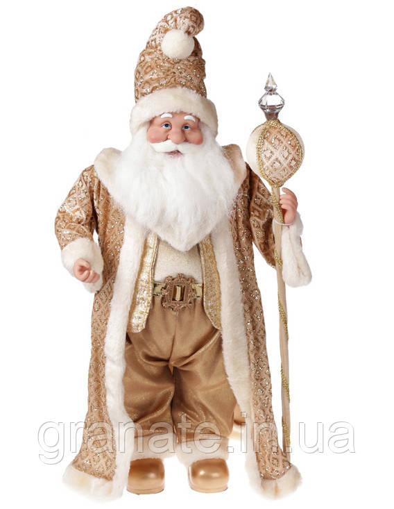 Новогодняя кукла Санта Клаус 71 см, цвет: золото