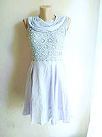 Сарафан -платье воздушное сиреневое 40-46
