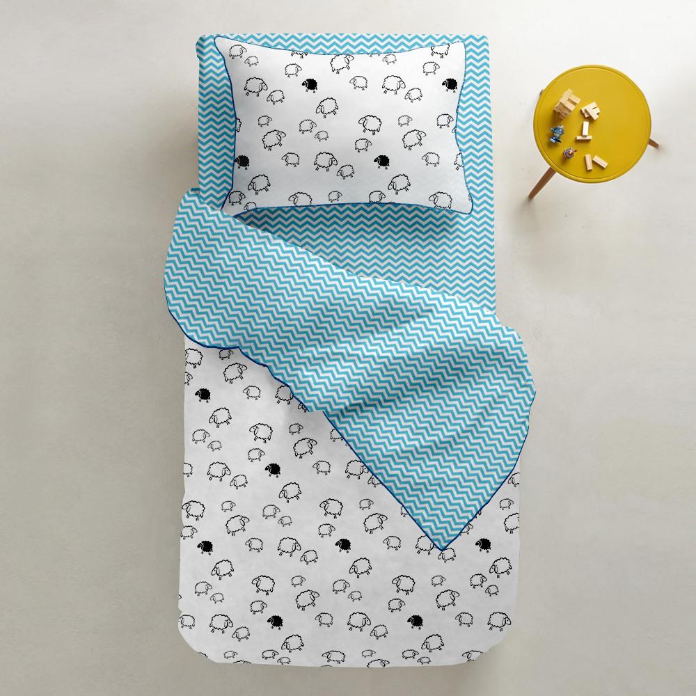 Комплект детского постельного белья SHEEP /зигзаг голубой/