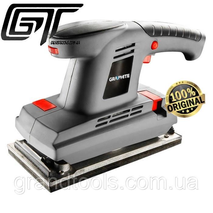 Шлифовально вибрационная машина с регуляцией оборотов 380 Вт  GRAPHITE 59G323