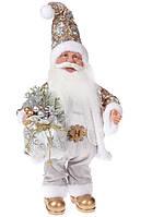 Музыкальная новогодняя кукла Санта Клаус 41см, цвет: шампвнь