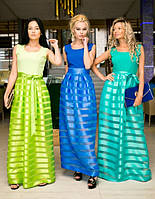 Платье женское длинное с органзы 6065 ш $