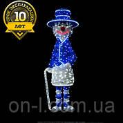 """3D фигура светодиодная """"Снеговик в синем"""""""