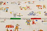 "Лоскут ткани ""Профессии"", фон ткани - белый  № 853а, размер 47*78 см, фото 2"