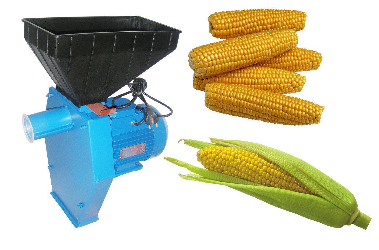 Зернодробилка-Измельчитель зерна и початков кукурузы Эликор-1 исп.3 медная обмотка 1,7кВт сделано в Украине