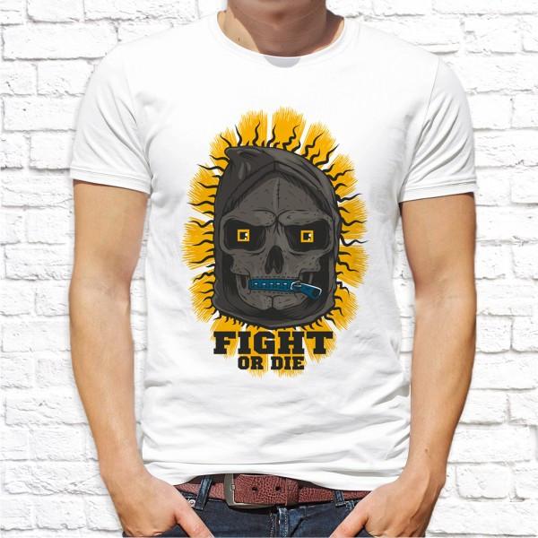 "Мужская футболка с принтом ""Fight or die"" Push IT"