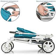 Детская коляска El Camino ME 1011L Lagoon голубой 5-ти точечные ремни безопасности, фото 9