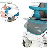 Детская коляска El Camino ME 1011L Lagoon голубой 5-ти точечные ремни безопасности, фото 8