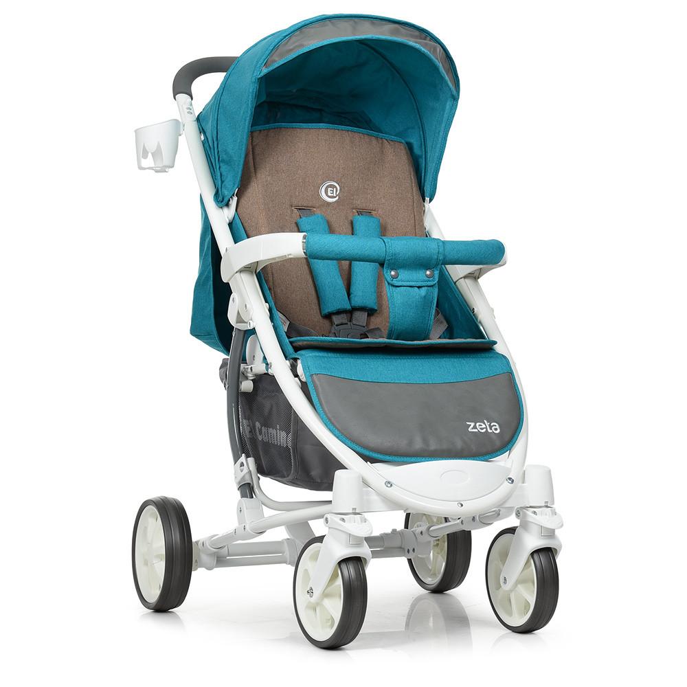 Детская коляска El Camino ME 1011L Lagoon голубой 5-ти точечные ремни безопасности