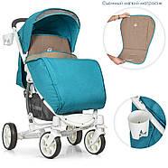 Детская коляска El Camino ME 1011L Lagoon голубой 5-ти точечные ремни безопасности, фото 2