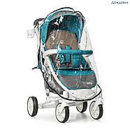 Детская коляска El Camino ME 1011L Lagoon голубой 5-ти точечные ремни безопасности, фото 3