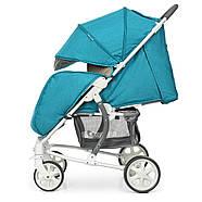 Детская коляска El Camino ME 1011L Lagoon голубой 5-ти точечные ремни безопасности, фото 4