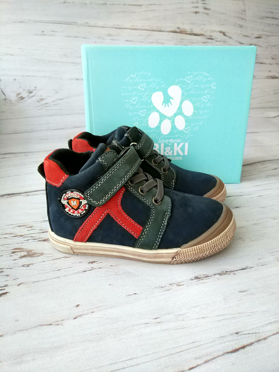 Стильные ботинки для мальчиков Bi&Ki 26р, 16.5см