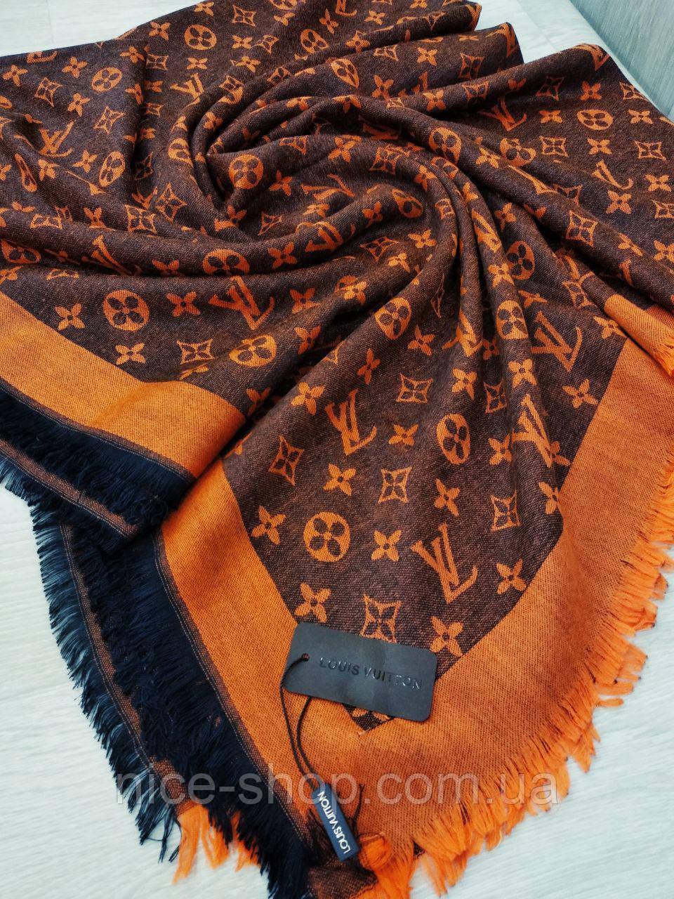Платок Louis Vuitton оранжевый комби