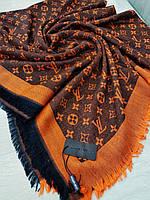 Платок Louis Vuitton оранжевый комби, фото 1