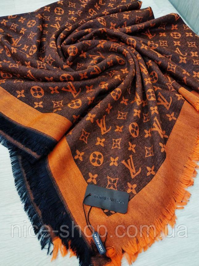 Платок Louis Vuitton оранжевый комби, фото 2