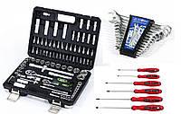 Набор инструмента 94ед King Roy (STD) 6633+ Набор отверток 6 ед INTERTOOL VT-2005+набор ключей 12 BT 40012